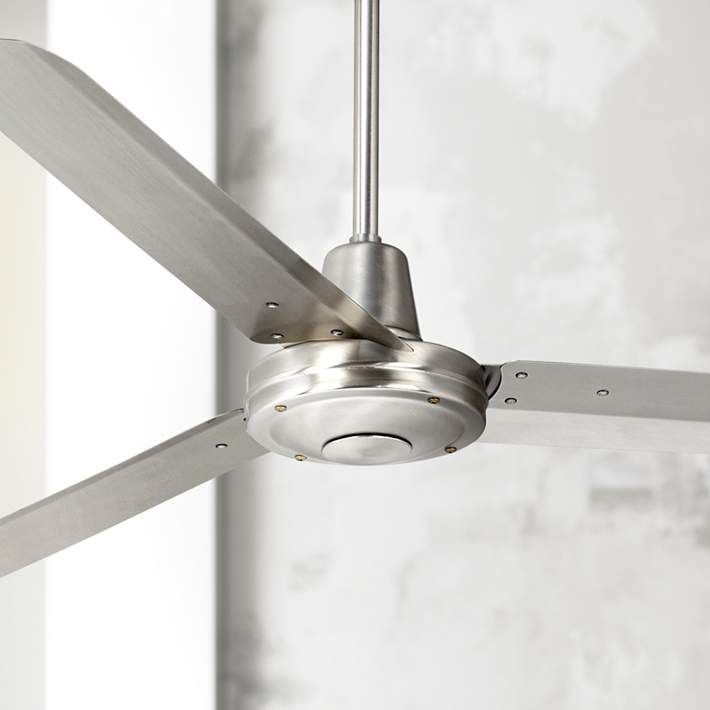 60 Turbina Dc Brushed Nickel Ceiling Fan R4144 Lamps Plus Ceiling Fan Contemporary Ceiling Fans Industrial Ceiling Fan