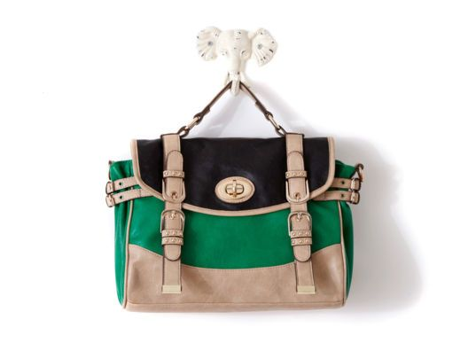 Karlie Colorblock Satchel by Melie Bianco >> Love this bag, great colors!
