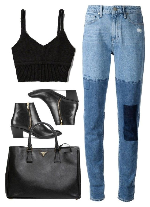 """♪"" by kennedydream ❤ liked on Polyvore featuring Paige Denim, Abercrombie & Fitch, H by Hudson, Prada, women's clothing, women, female, woman, misses and juniors"
