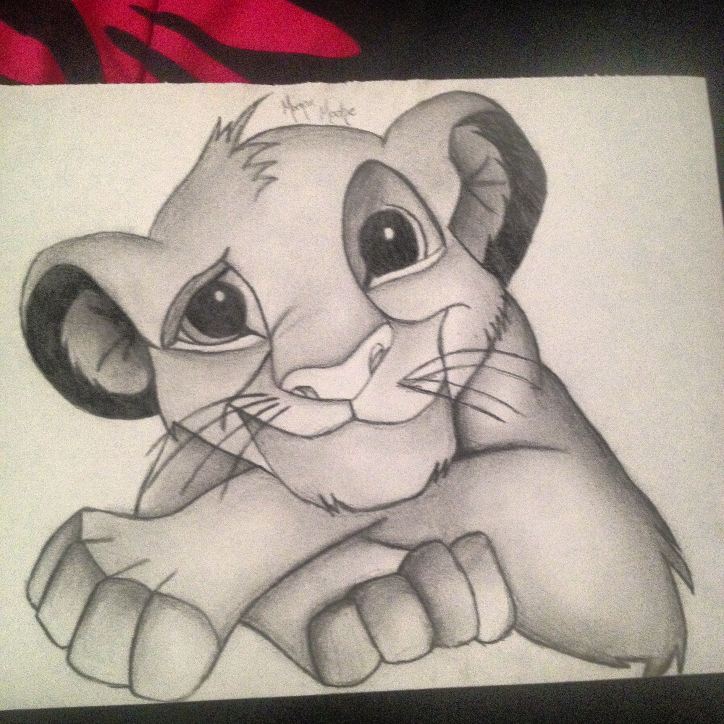 Drawing Of Simba Such A Cute Little Kitty Little Disney Addict