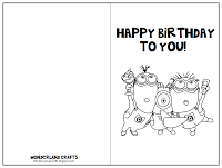 Wonderland Crafts Free Printable Birthday Cards Happy Birthday Cards Printable Minion Birthday Card