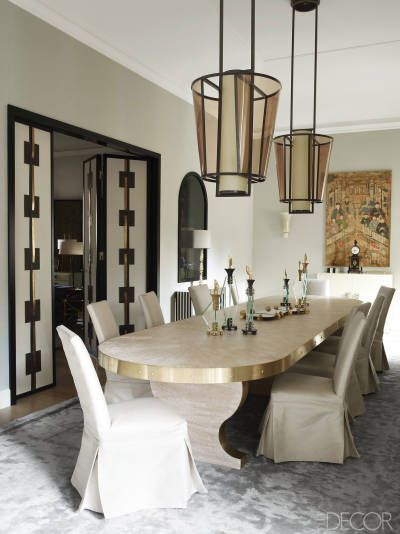 House Tour An Italian Palazzo With The Most Beautiful Antique Touches Dark Dining Room Dining Room Interiors Modern Dining Room Best dining rooms elle decor