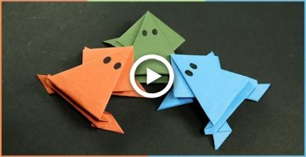 Photo of Origami Frog that Jumps – Easy Fun Paper Craft for Kids