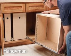 Build Organized Lower Cabinet Rollouts for Increased Kitchen Storage is part of Lower Cabinet Organization - Add convenient kitchen storage with these simple rollout bins