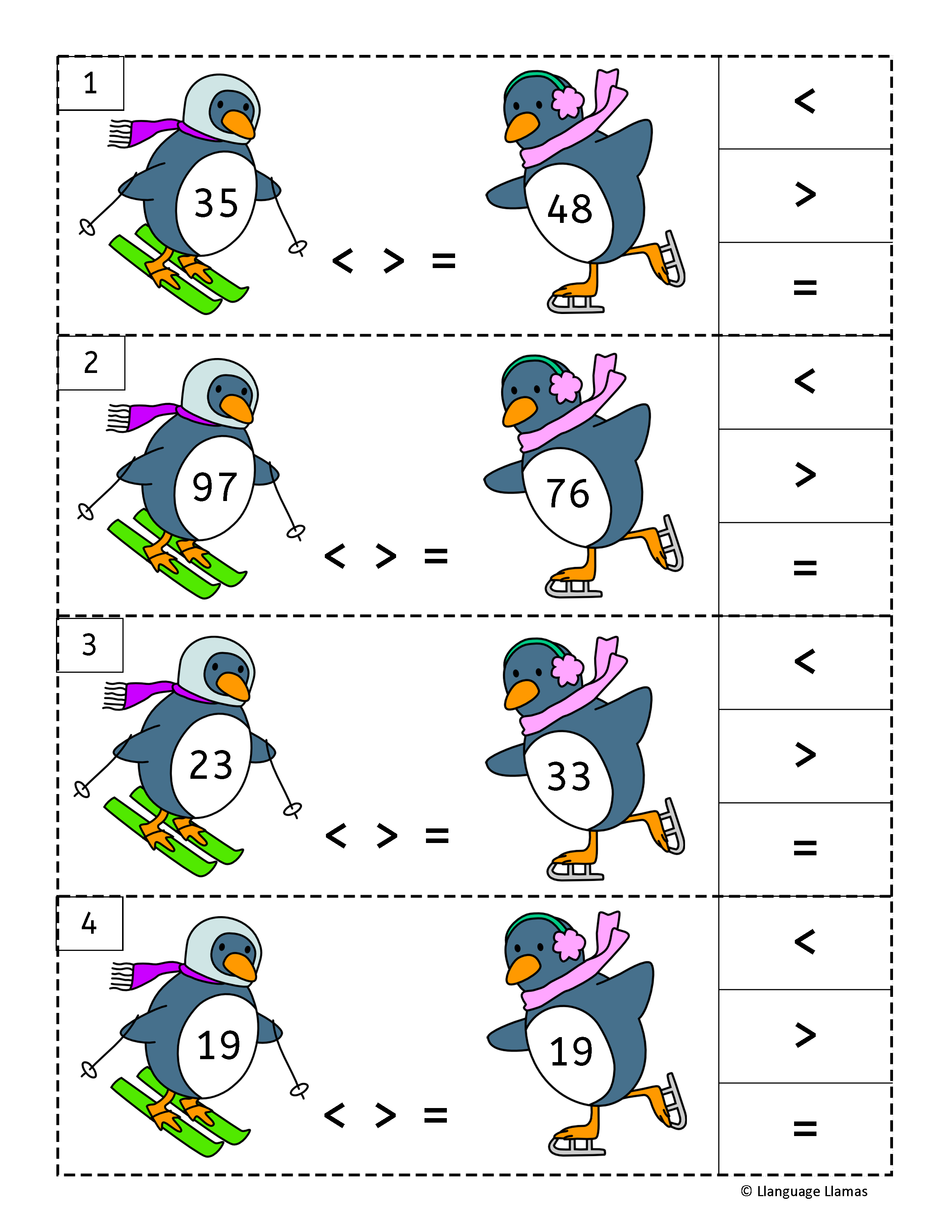 Penguin First Grade Math Five Fun Penguin Math Activities To Practice Addition Finding The Missing Addend And Subtrahe First Grade Math Math Elementary Math [ 3300 x 2550 Pixel ]