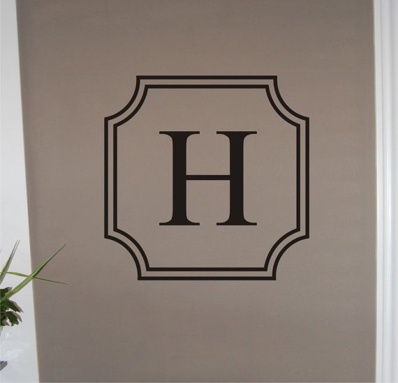 For the edge of the crib Vinyl+Wall+Decal++Double+Border+Single+Initial+by+homesweetwalls,+$32.00