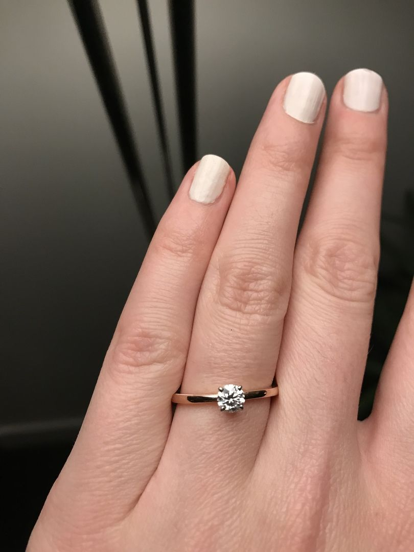 Classic comfort fit solitaire engagement ring in 15mm 14k