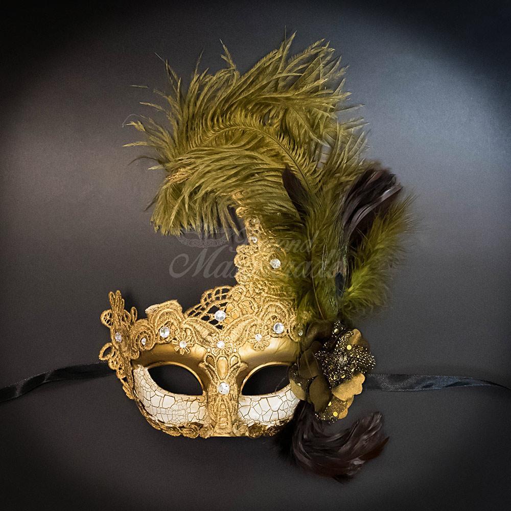 Mask Fancy Evening Party Masquerade Christmas Dress Ball Venetian Women Feather