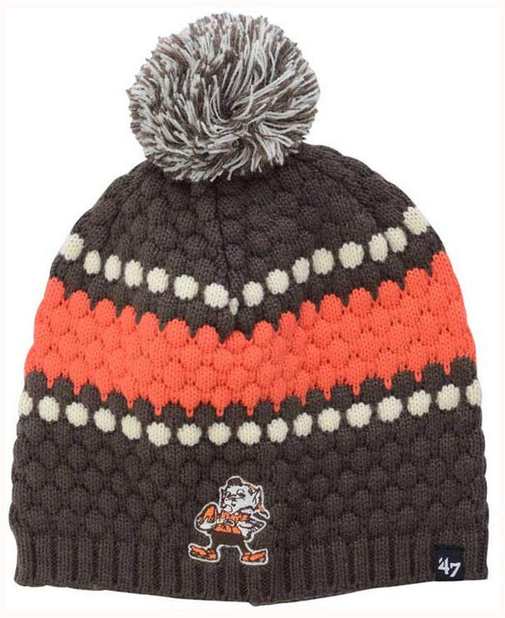Disclosure: my pins are affiliate links. At no additional cost to you, I earn a commission if you click on the link and/or make a purchase. '47 Brand Women's Cleveland Browns Leslie Pom Knit Hat