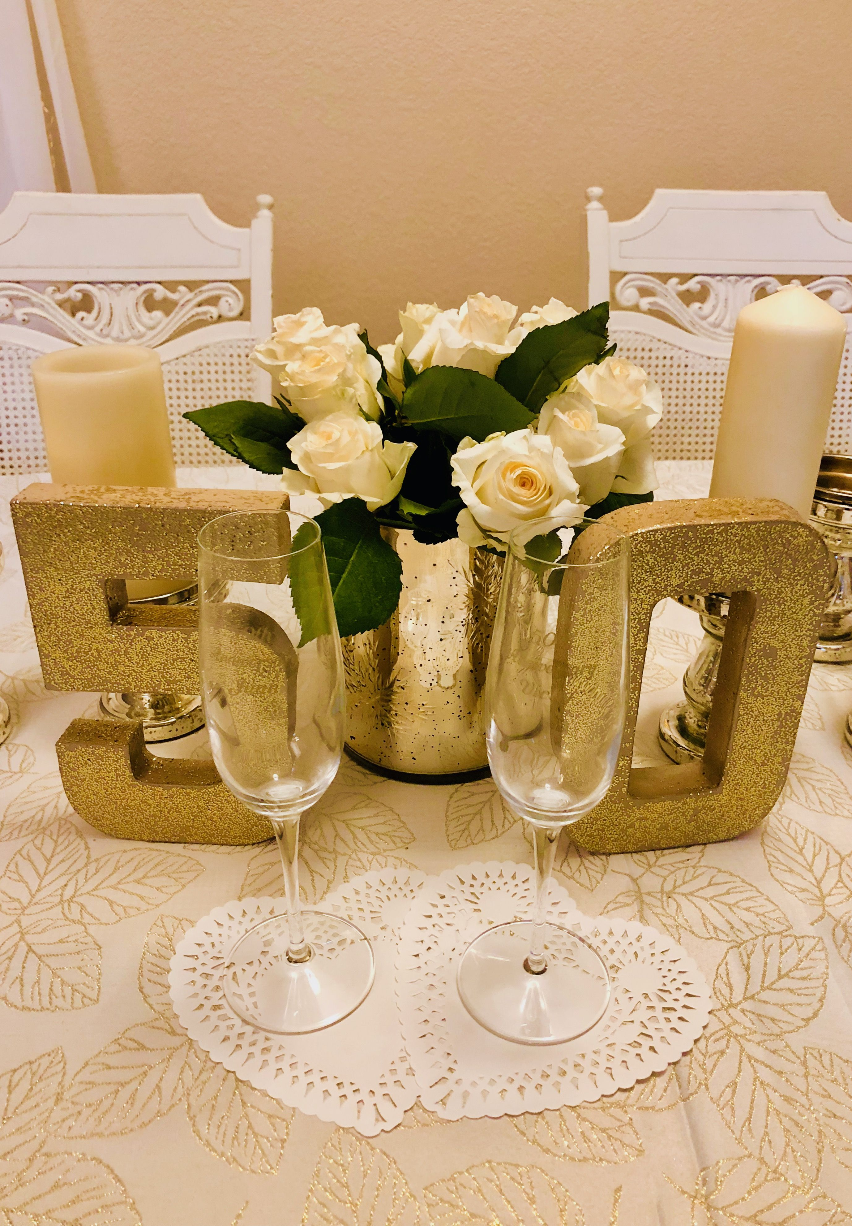 Diy Table Decorations 50th Wedding Anniversary Decorations