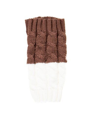 Valshi Women's Crocheted Leg Boot Cuffs Topper Double Sided Knit Crochet