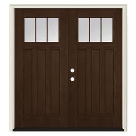 Jeld Wen Blanca Privacy Glass Persimmon Steel Painted Entry Door