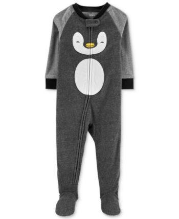 dd002b46d5f7 Baby Boys Fleece Penguin Pajamas in 2019