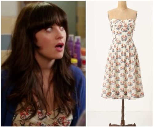cute bicycle pattern dress