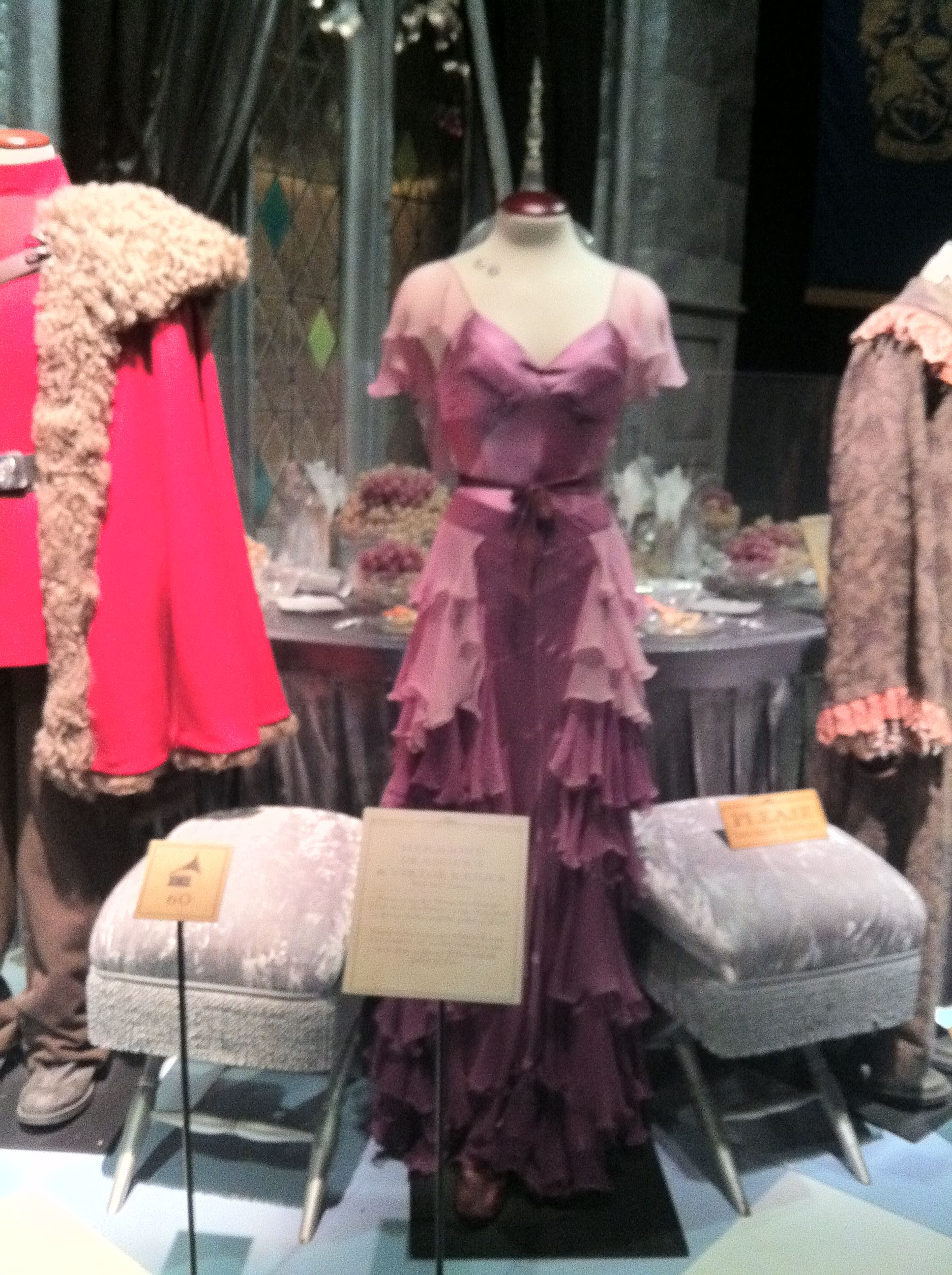 Hermione's dress worn in the Goblet of Fire. Harry Potter