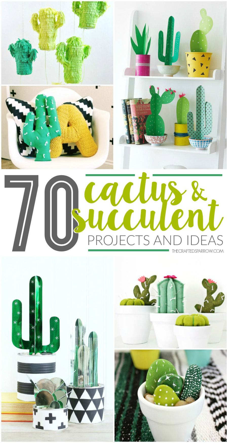 70 Faux Cactus & Succulent Projects and Ideas Crafts