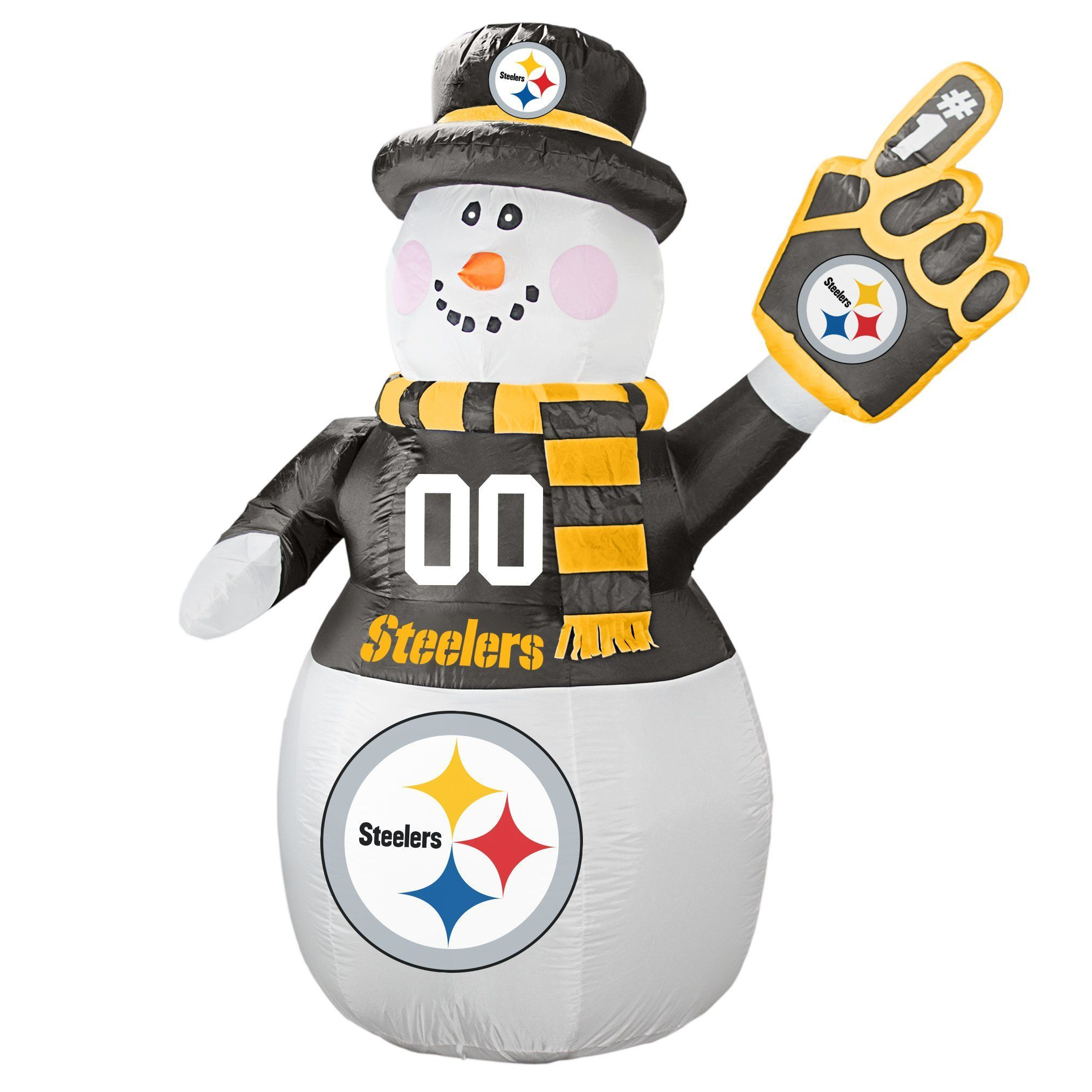 7 ft. Pittsburgh Steelers Football Inflatable Snowman   Christmas ...