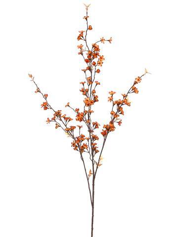 Artificial fall blossom silk flower spray in orange 36 terra cotta mightylinksfo Gallery