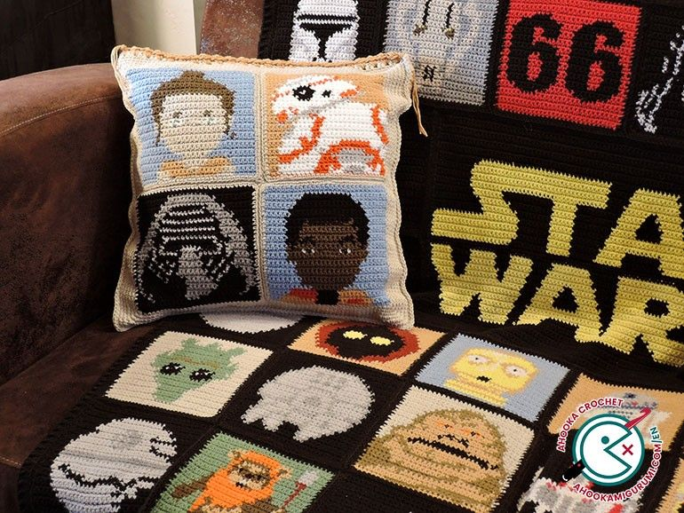 Amigurumi Star Wars Patterns : Star wars crochet cushion pattern crochet and knitting pinterest