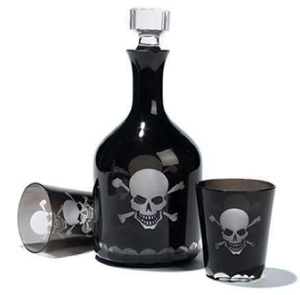 Pirate Liquor Bottles Skull Decor Skull Crossbones