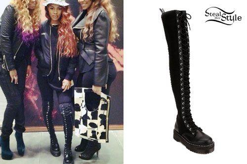 obuwie wyprzedaż w sprzedaży najnowszy Teyana Taylor: Knee-High Dr Martens Boots | Killer Shoes ...