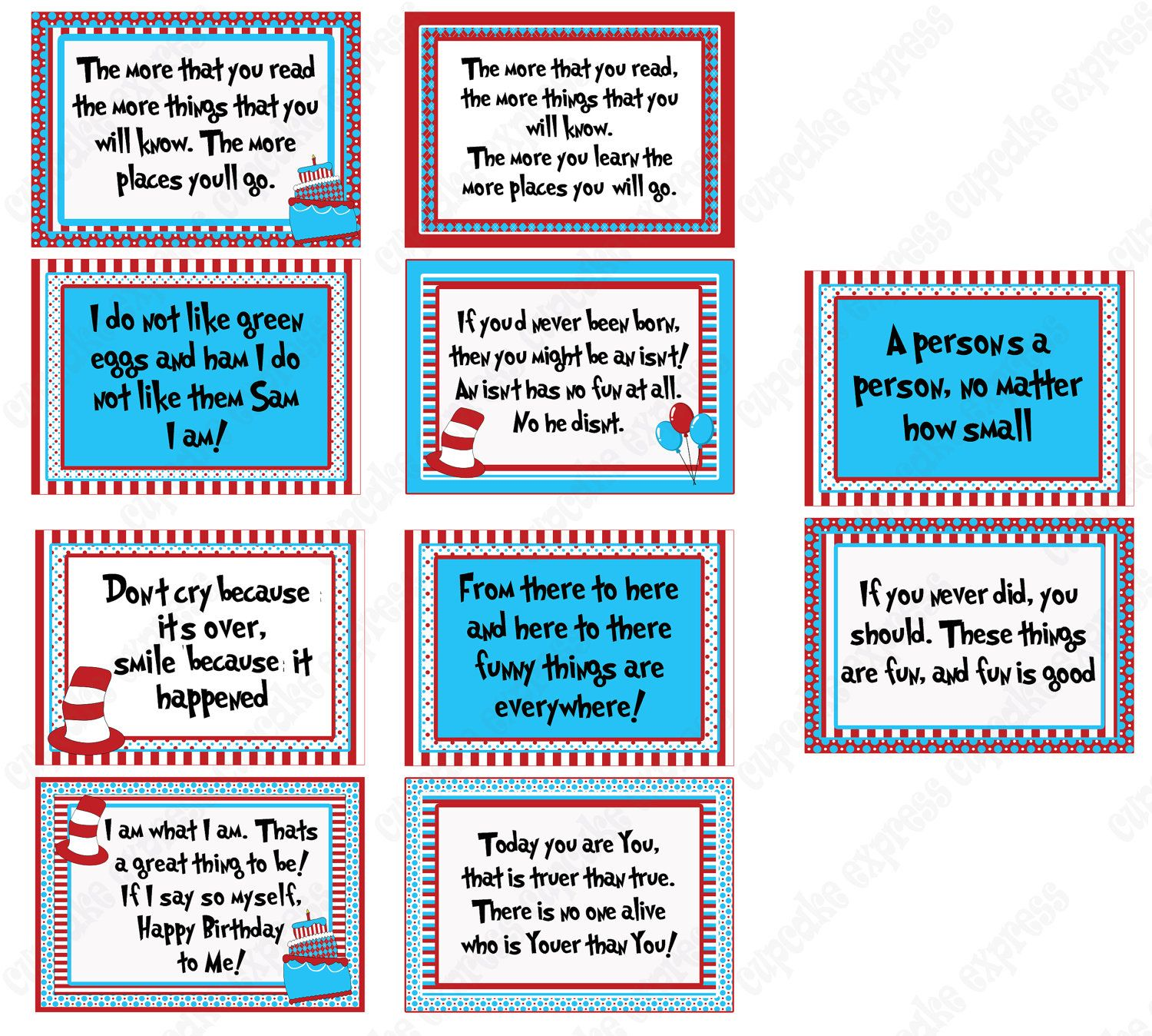 image about Free Printable Dr Seuss Quotes identify Impression thing for -Prompt Down load do-it-yourself 20 Dr Seuss Impressed