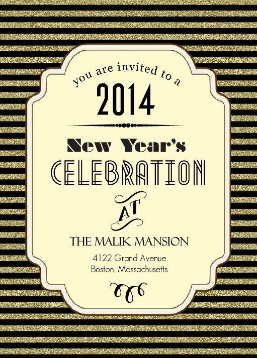 Roaring Twenties New Years Eve Party Invitation New