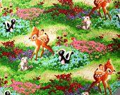 Bib for Baby or Toddler Bambi Flower and Thumper Handmade LAST ONE