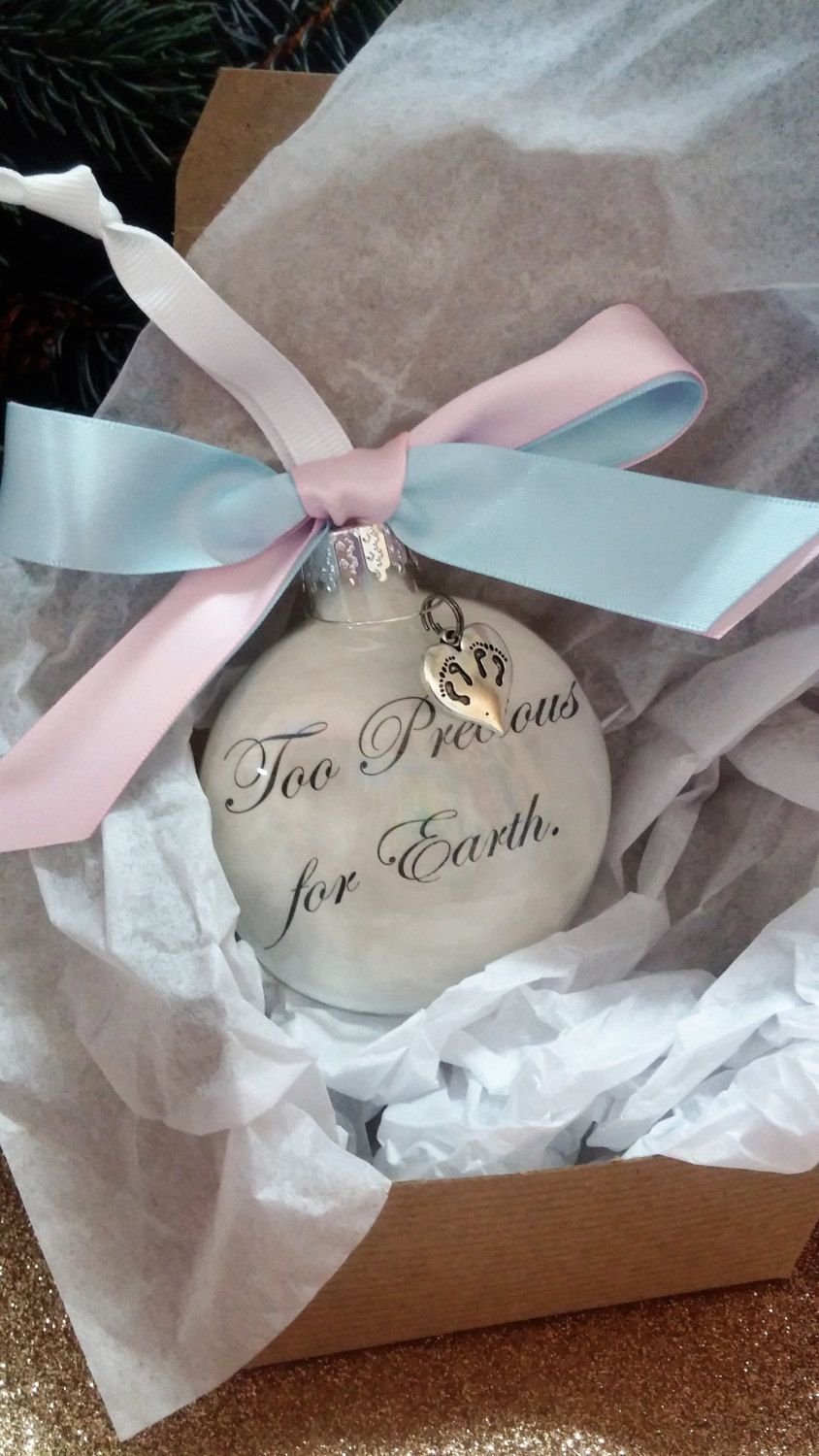 Ornaments for loved ones lost - Pregnancy Loss Memorial Ornament Too Precious For Earth Twin Babies Memorial Sympathy Gift Miscarriage Christmas Bauble Multiples