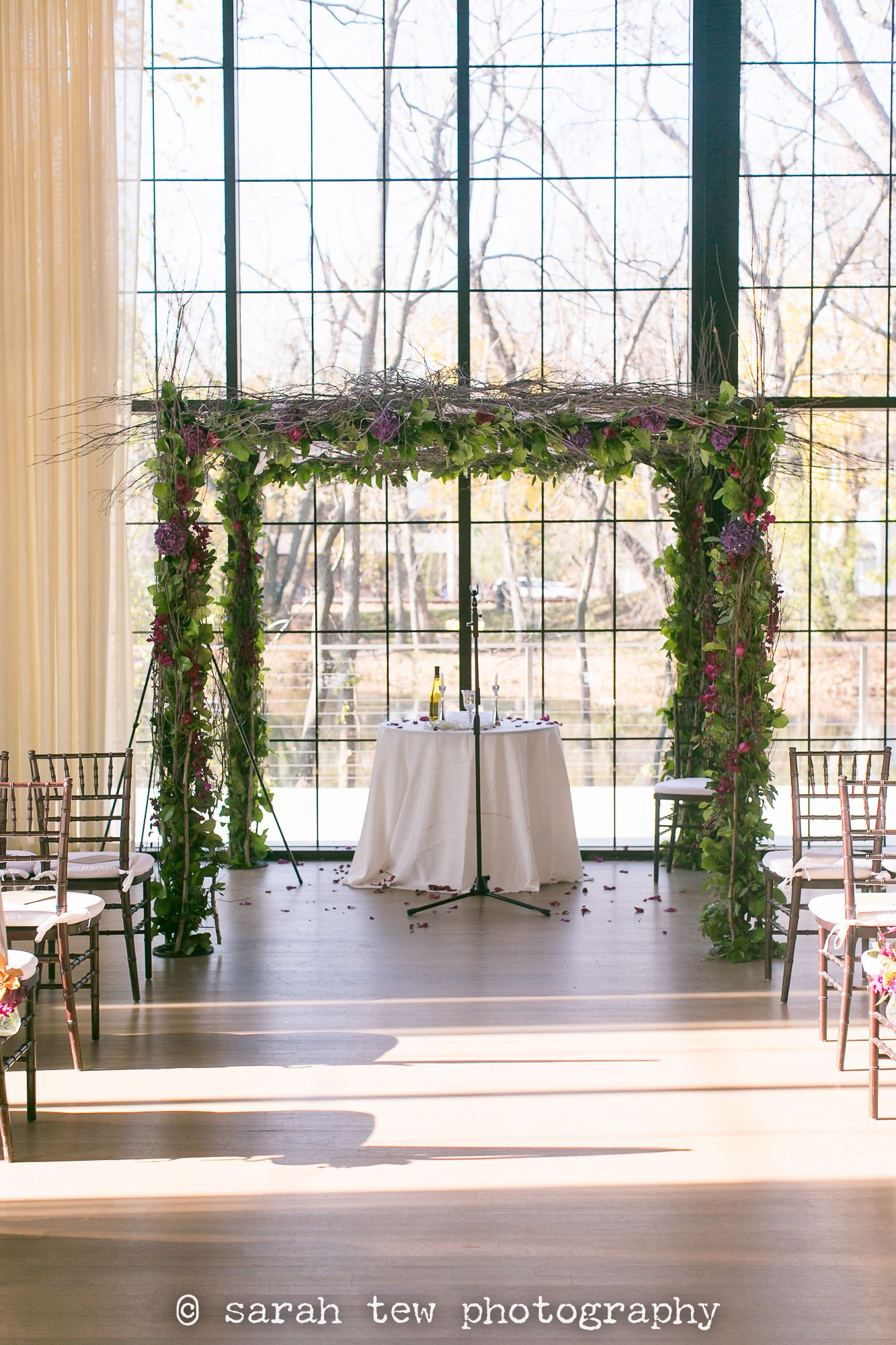 November hudson valley wedding at The Roundhouse at Beacon Falls with purple florals by ©️ Sarah Tew Photography as seen at https://www.sarahtewphotography.com/blog/johanna-gregs-wedding-the-roundhouse-at-beacon-falls/ featuring @TaraKeely @StevenBruceDesigns @NYEngagements