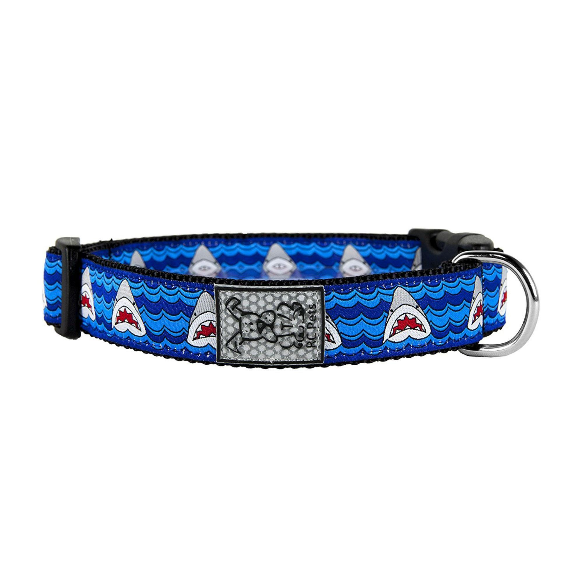 Shark Attack Adjustable Clip Dog Collar By RC Pet Dog