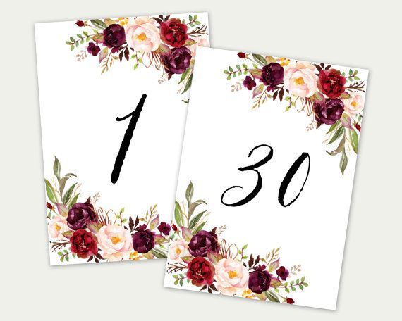 photo about Free Printable Table Numbers 1 30 named Pin upon Solutions