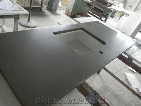 Description Dark Grey Quartz Kitchen Countertops Kitchen