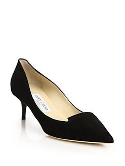 96baa31f969 Jimmy Choo - Allure Suede Kitten Heel Pumps