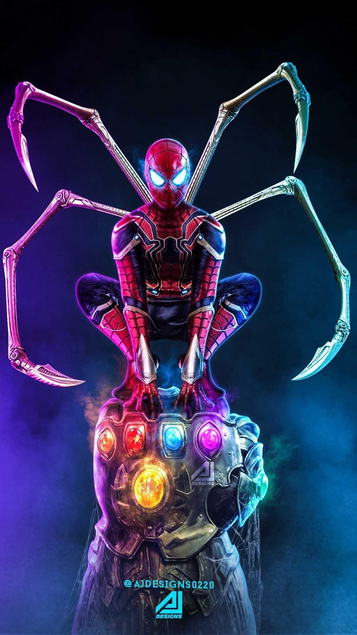 samsung wallpaper marvel iphone wallpaper men Thanos Vs Spider Man IPhone Wallpaper marvel