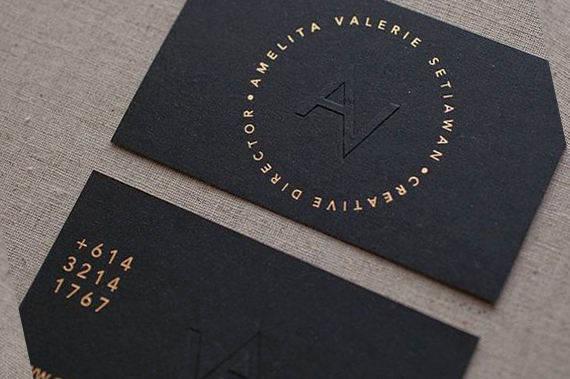 100 Business Cards Blind Embossed Debossed Gold Silver Rose Blue Green Metallic Foil 14pt 16pt Black Matte Stock Custom Logo Hang Tags Usa Black Business Card Stunning Business Cards Letterpress Business Cards