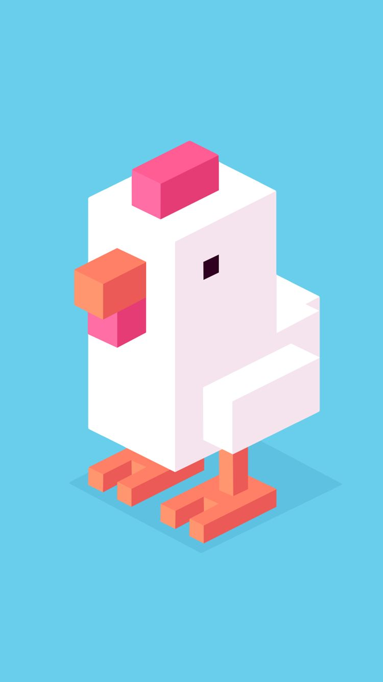 Is it just me or is this chicken adorable?? Crossy road
