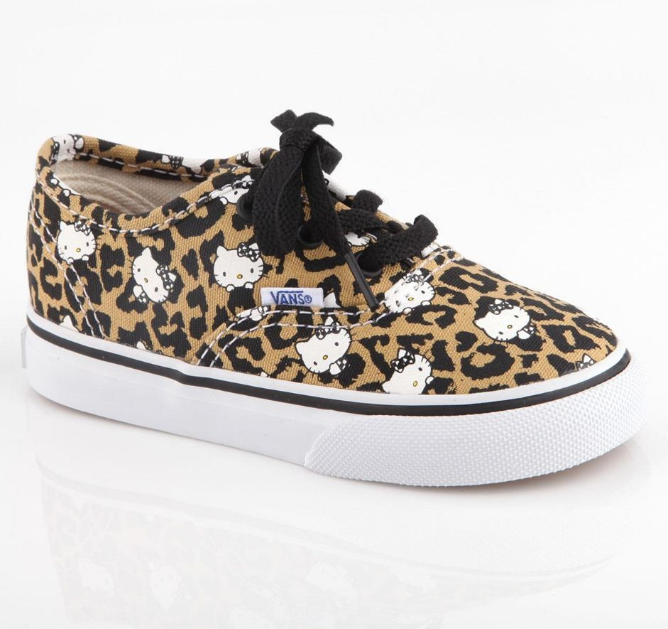 4b6fc074f3 Kawaii kicks for kids   HelloKitty Vans with awesome leopard print ...