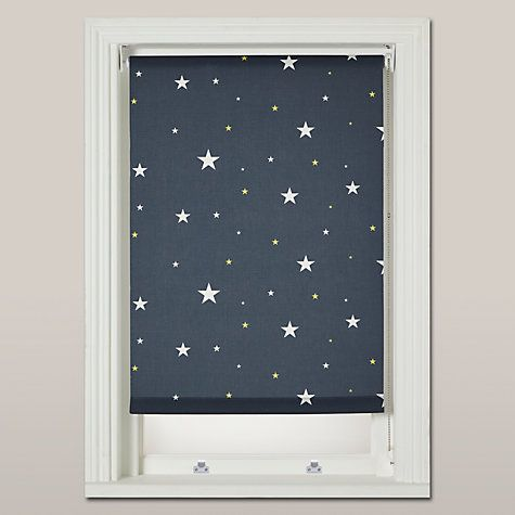 Buy John Lewis Starry Night Blackout Roller Blind Navy