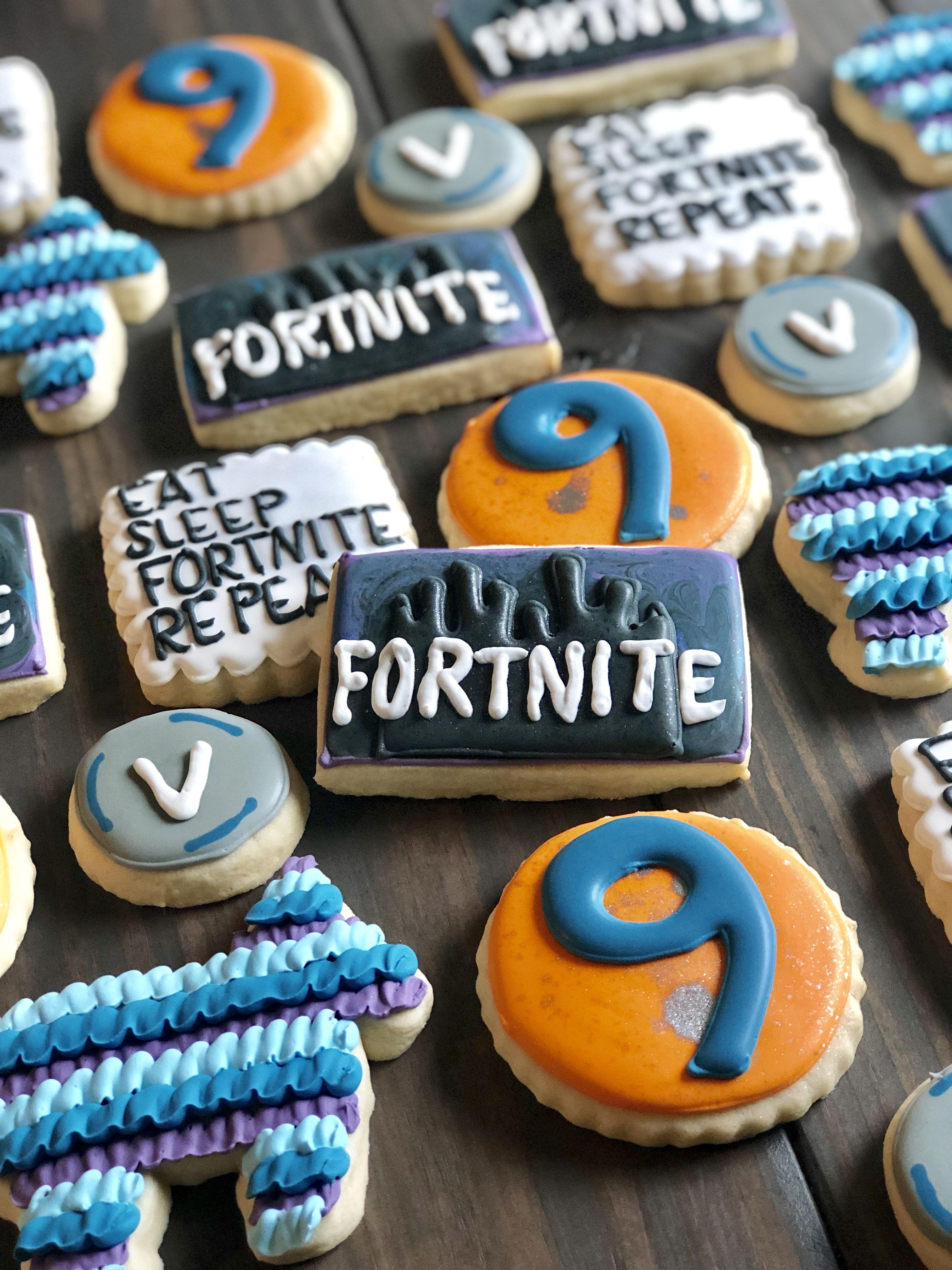 Fortnite cookies by mc cookies sugar cookies 8th