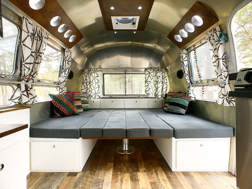 Airstream Renovation Tour Before And After Airstream Airstream Remodel And Rv