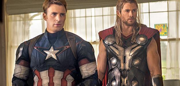 Os Vingadores Capitão America e Thor
