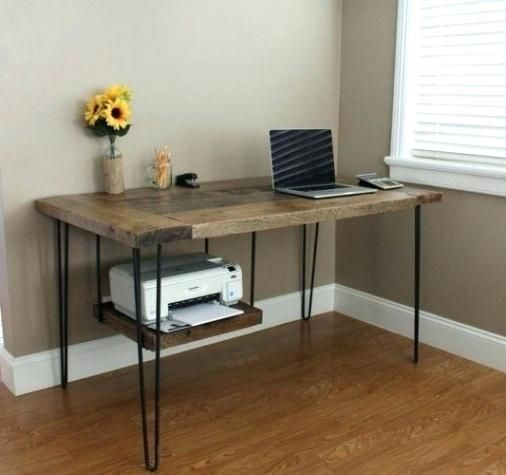 Computer Desk With Tower Storage Printer Hidden Intended For Attractive Household Shelf