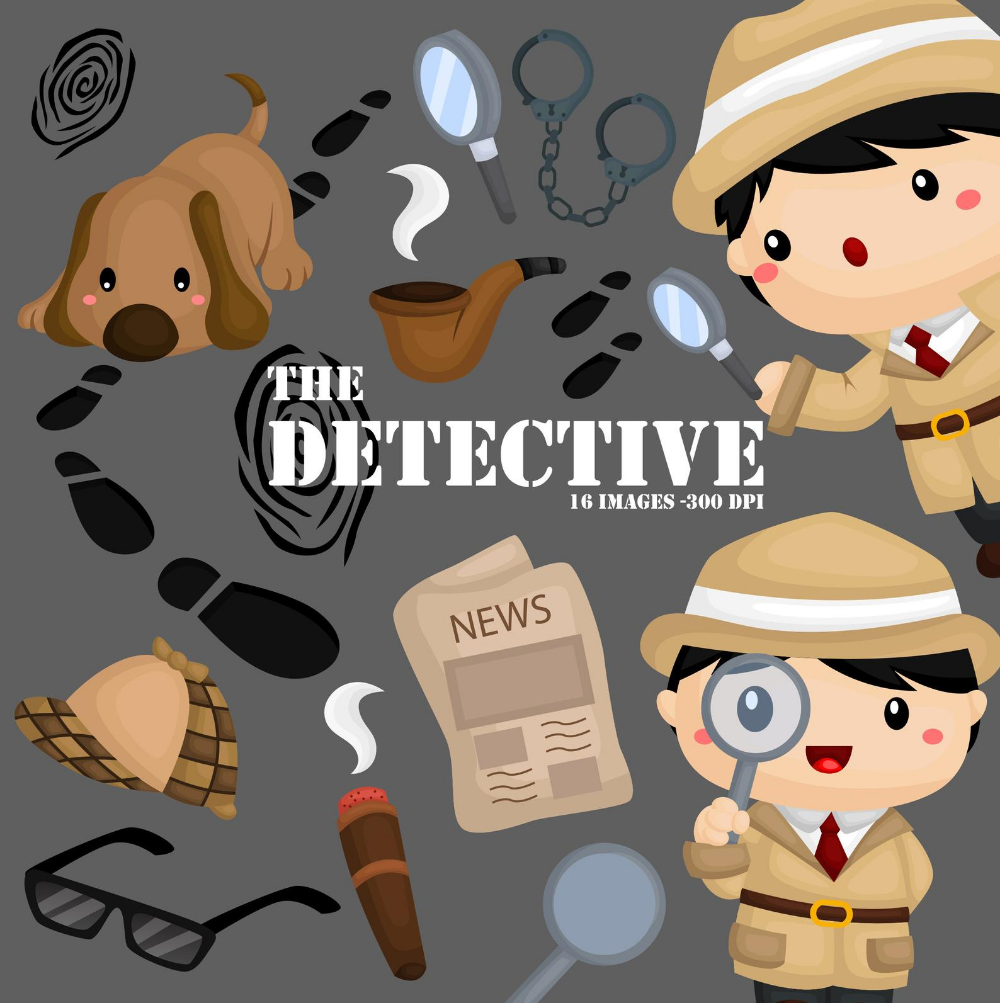 Cute Detective Clipart Job And Occupation Clip Art Tracker Etsy In 2021 Clip Art Cute Animal Clipart Animal Clipart