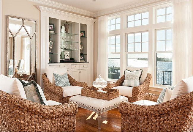 Simply White Living Room Ideas: Living Room Wicker Chairs. Beach House Living Room With