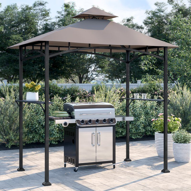 Sol 72 Outdoor Bayamo 8 Ft W X 5 Ft D Steel Grill Gazebo Reviews Wayfair In 2020 Grill Gazebo Patio Gazebo Steel Gazebo