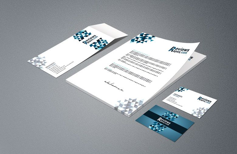 Business Card Letterhead Envelope Template Mockup Free  Mockup