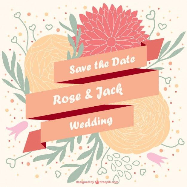 Vector floral wedding invitation Free Vector More invites n stuff - fresh invitation banner vector