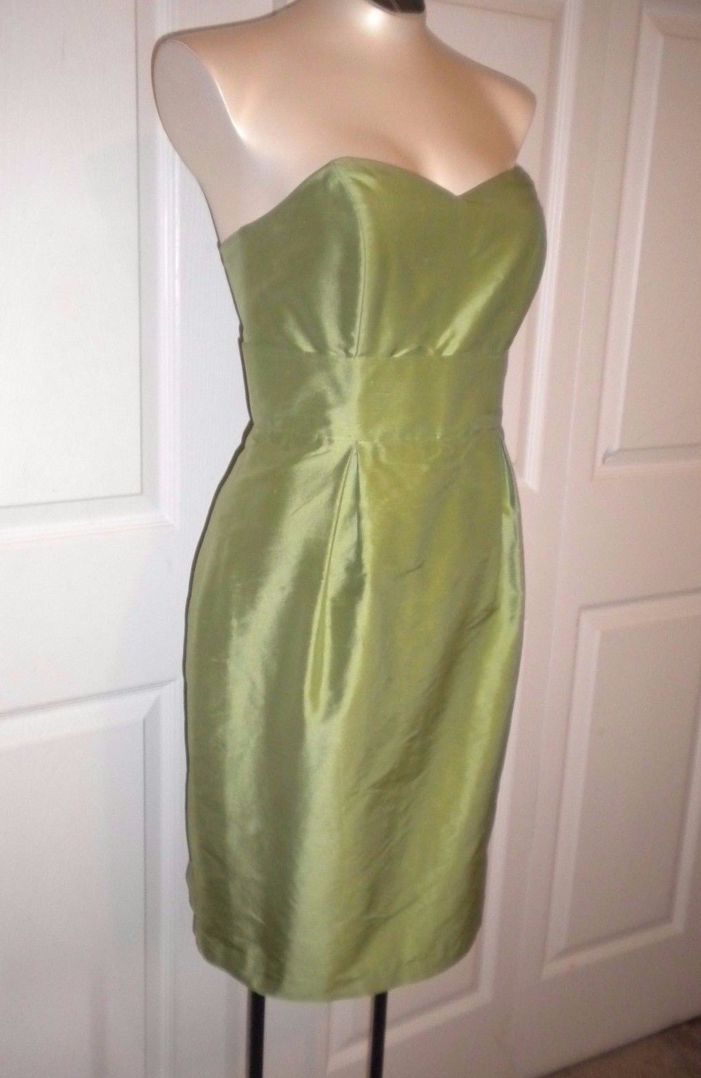Mid length dresses for wedding guests  Awesome Lula Kate Strapless Green Knee Length Dress Cocktail Wedding