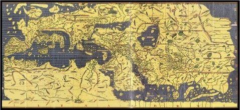 قناة اقرأ الفضائية خريطة صينية قديمة تعرض أماكن إسلامية مقدسة Early World Maps Ancient World Maps World Map Photo